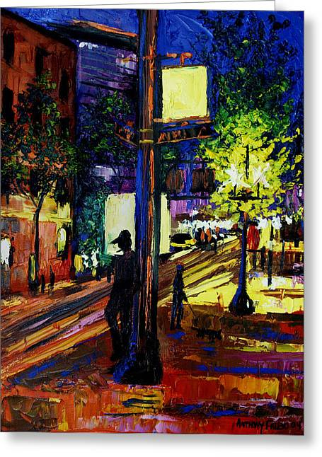 Night Moves Greeting Card by Anthony Falbo
