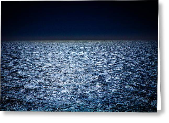 Night Sea Greeting Card by Henny Gorin