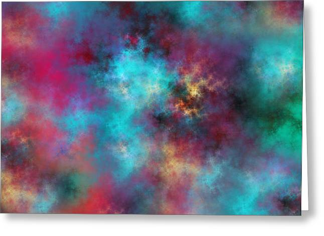 Night Sky Greeting Card by Betsy Knapp