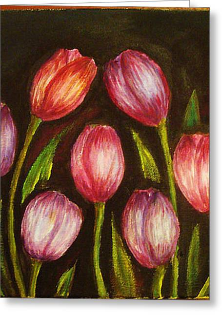 Night Tulips Greeting Card