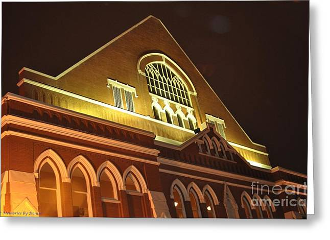 Night View Of The Ryman Greeting Card