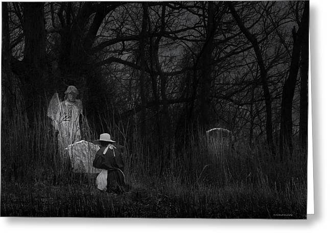 Night Visitor Greeting Card by Ron Jones