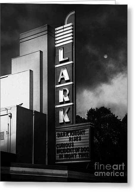 Nightfall At The Lark - Larkspur California - 5d18482 - Black And White Greeting Card by Wingsdomain Art and Photography
