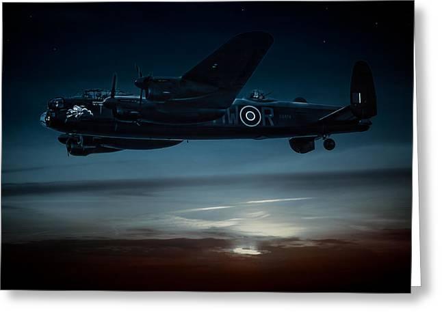 Nightflight Greeting Card by Chris Lord