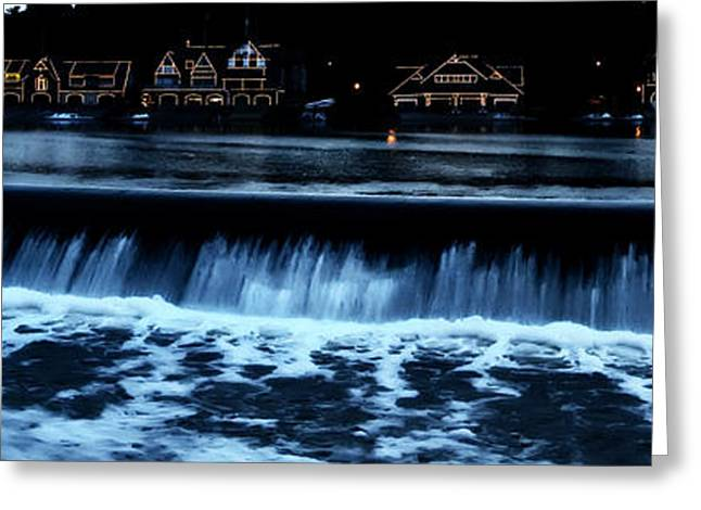 Nighttime At Boathouse Row Greeting Card by Bill Cannon