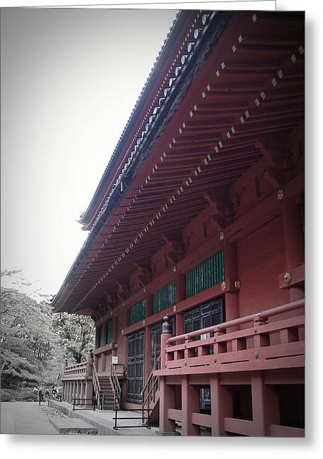 Nikko Monastery Greeting Card by Naxart Studio