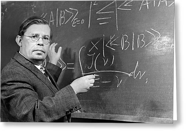 Nikolai Bogolyubov, Soviet Physicist Greeting Card by Ria Novosti