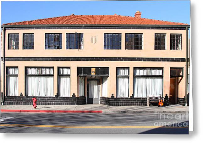 Niles California Banquet Hall . 7d12736 Greeting Card by Wingsdomain Art and Photography