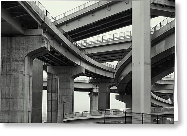Nippon Super Expressway -- Kansai Japan Greeting Card by Daniel Hagerman