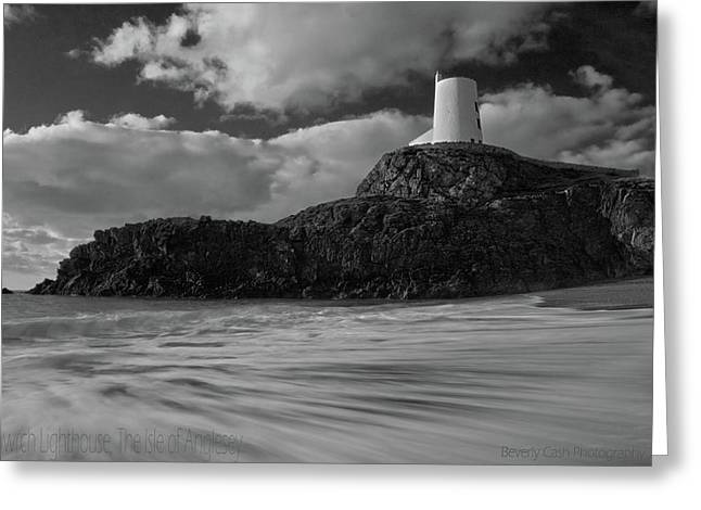 Greeting Card featuring the photograph Niwbwrch Lighthouse by Beverly Cash