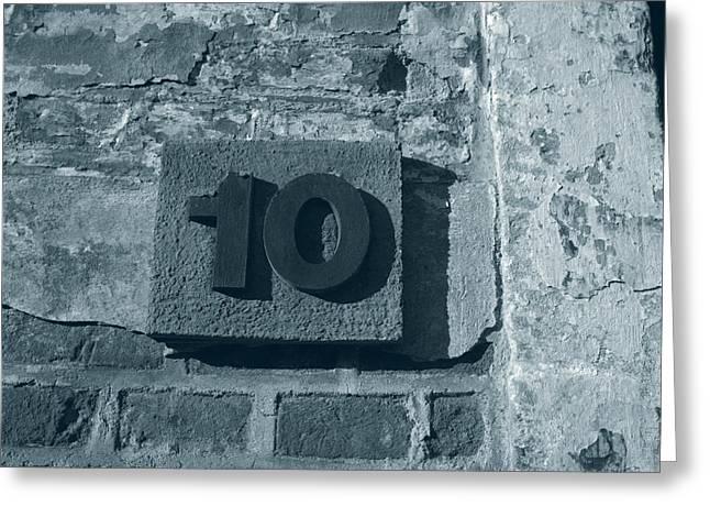 No. 10 Barracks At Terezin - Duotone Greeting Card