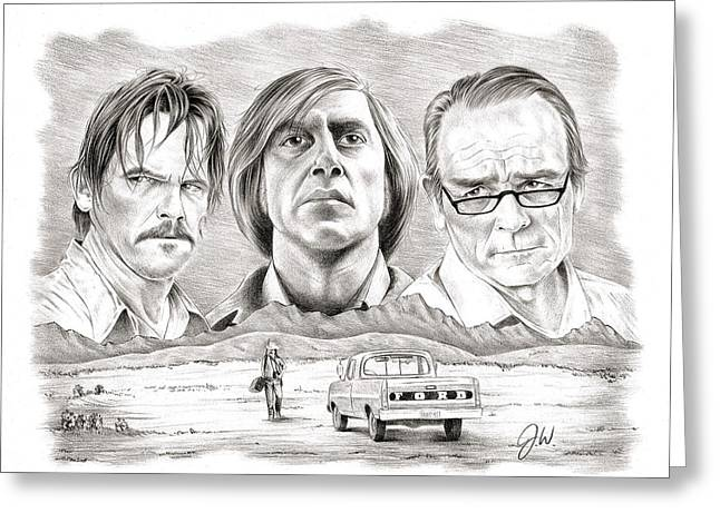 No Country For Old Men Greeting Card by Jamie Warkentin