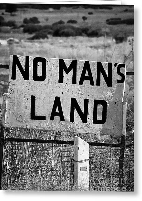 no mans land and restricted area of the UN buffer zone green line dividing north and south cyrus Greeting Card by Joe Fox