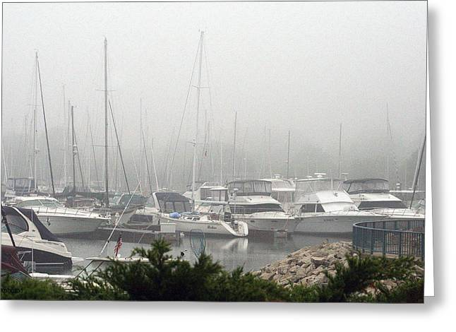 Greeting Card featuring the photograph No Sailing Today by Kay Novy