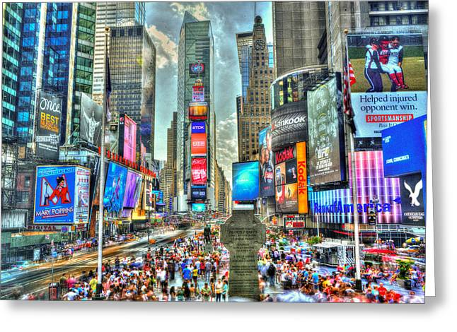 No Time @ Times Square Greeting Card