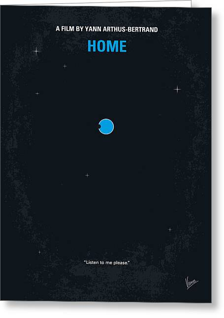 No037 My Home Minimal Movie Poster Greeting Card by Chungkong Art