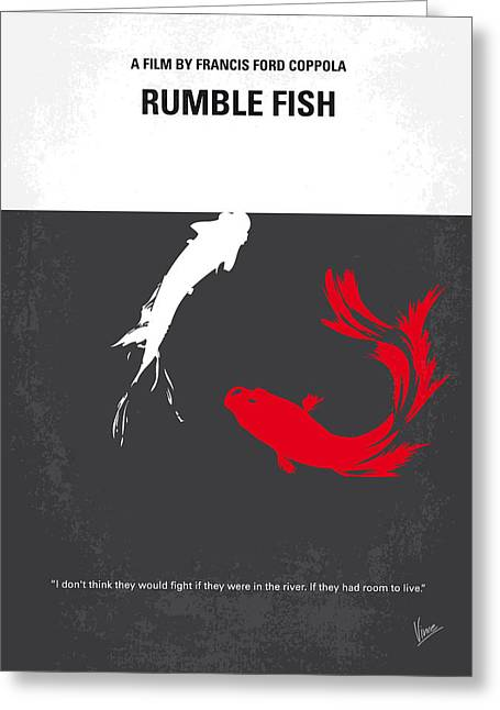 No073 My Rumble Fish Minimal Movie Poster Greeting Card