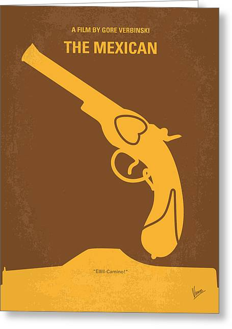 No077 My The Mexican Minimal Movie Poster Greeting Card by Chungkong Art