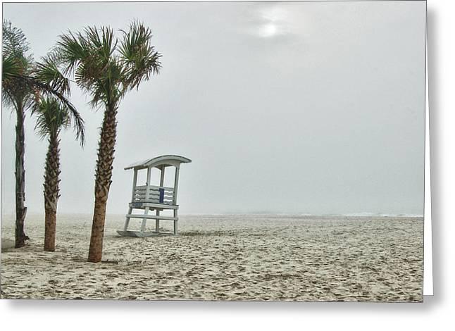 No.1 Foggy Beach Greeting Card by Michael Thomas