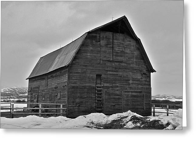 Greeting Card featuring the photograph Noble Barn by Eric Tressler