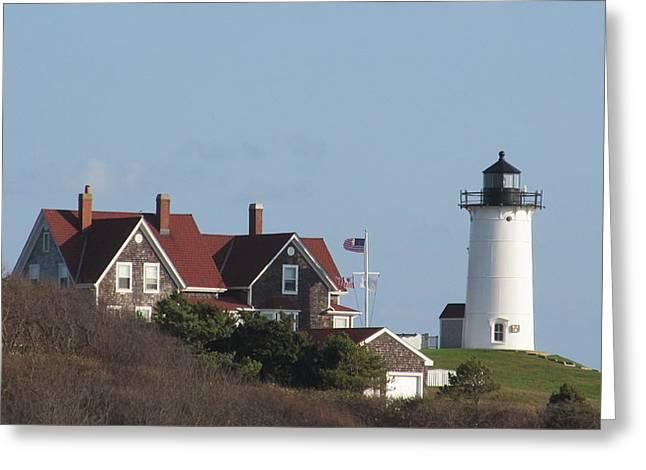 Nobska Lighthouse Cape Cod Greeting Card