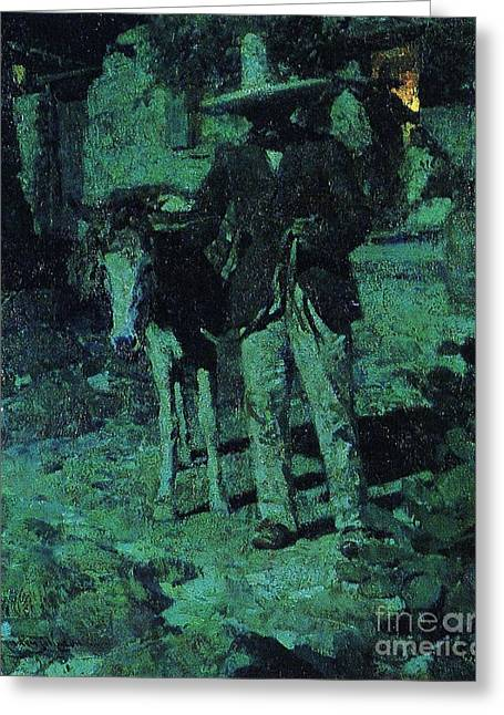 Nocturne Contrast Greeting Card by Pg Reproductions