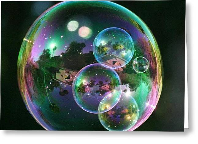 #nofilter #doubletap #bubbles Greeting Card by Mandy Shupp