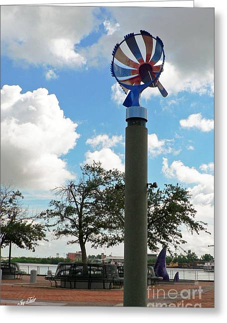 Nola Riverwalk Art Greeting Card
