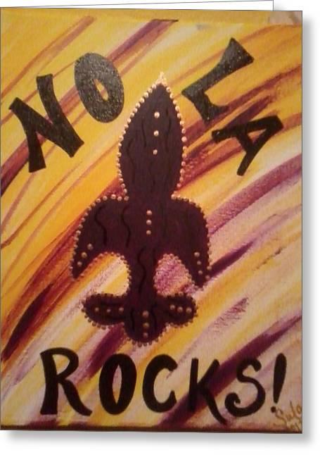 Nola Rocks Greeting Card by Sula janet Evans