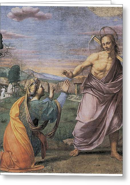 Noli Me Tangere Greeting Card by Franciabigio