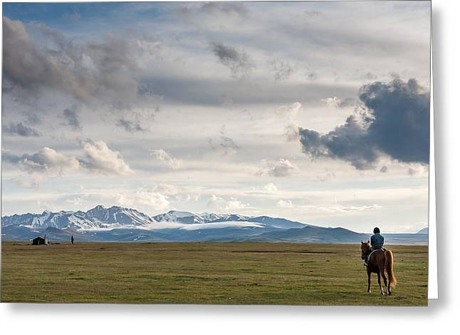 Nomads Greeting Card by Konstantin Dikovsky