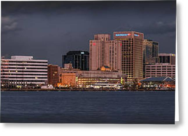 Norfolk Waterfront Color Greeting Card