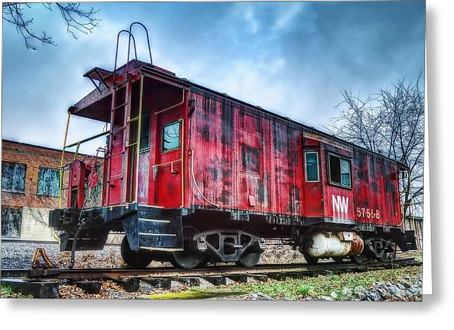 Norfolk Western Caboose Greeting Card by Steve Hurt