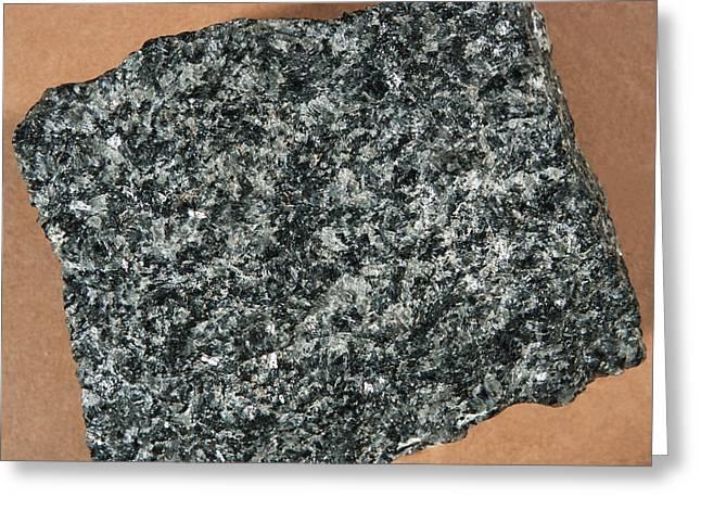 Norite Igneous Rock Greeting Card by Dirk Wiersma