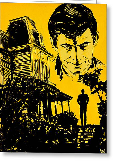 Norman Bates Psycho Greeting Card by Giuseppe Cristiano