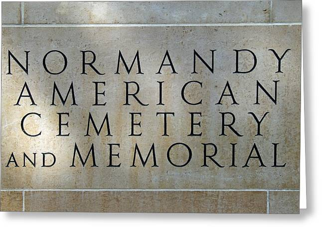 Normany Ww II American Cemetery And Memorial  Greeting Card by Joseph Hendrix