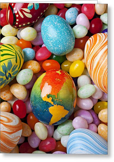 North America Easter Egg Greeting Card by Garry Gay