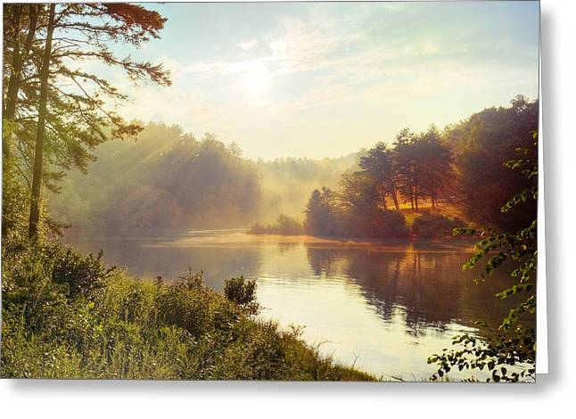 North Carolina Sunset Greeting Card by Ray Devlin