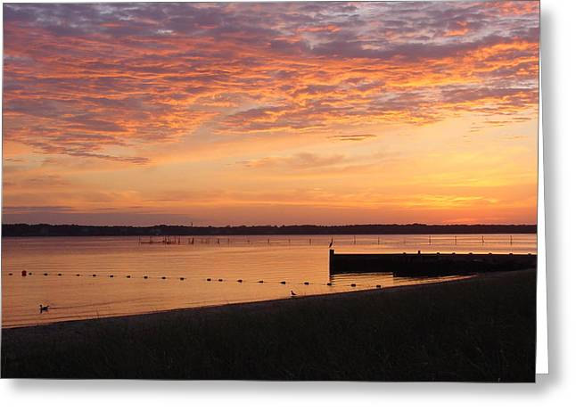 Greeting Card featuring the photograph North Fork Li Sunrise by Frank Wickham