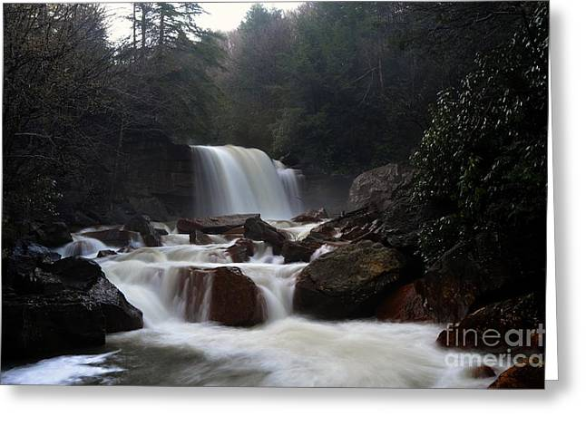 Greeting Card featuring the photograph North Forks Waterfalls by Dan Friend