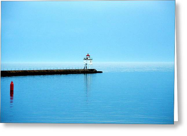 North Shore Lighthouse Greeting Card by Bridget Johnson