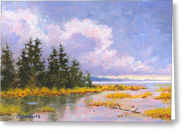 North Shore Greeting Card by Richard De Wolfe