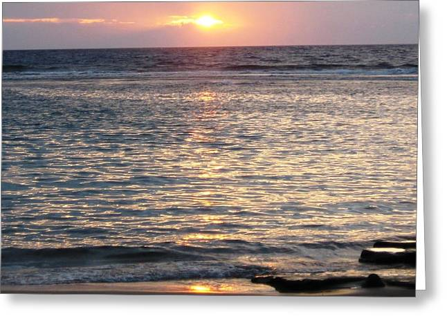 North Shore Sunset Greeting Card by Sharon Farris