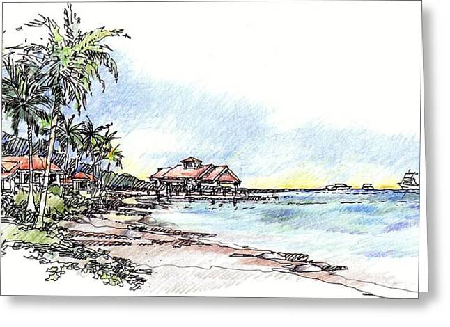 North Sound Beach Greeting Card by Andrew Drozdowicz