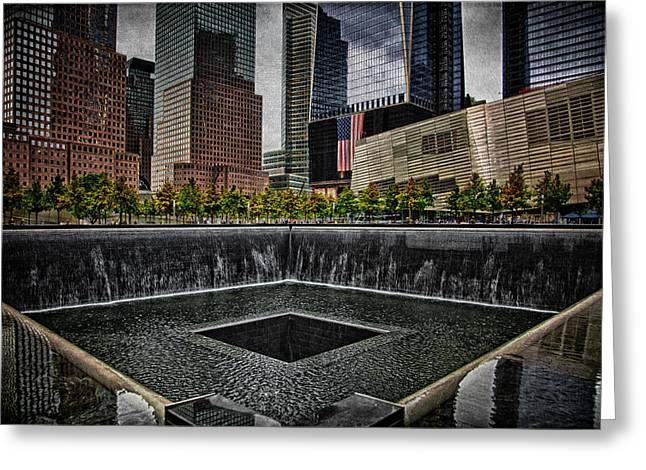 North Tower Memorial Greeting Card by Chris Lord