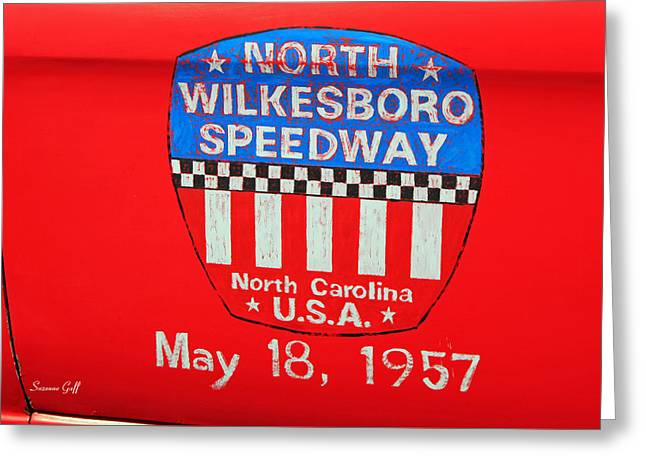North Wilkesboro Speedway Greeting Card by Suzanne Gaff