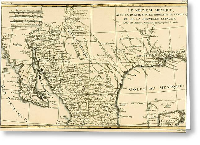 Northern Mexico Greeting Card by Guillaume Raynal