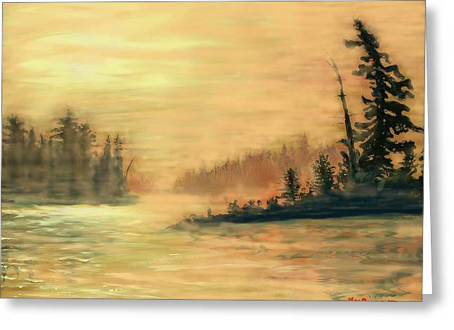 Northern Ontario Summer Morning Greeting Card by Ian  MacDonald