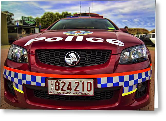 Greeting Card featuring the photograph Northern Territory Police Car by Paul Svensen
