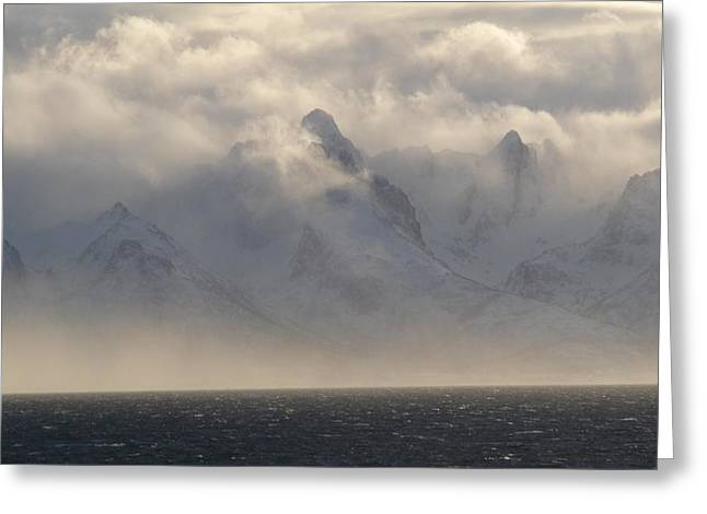 Norwegian Arctic Hills Greeting Card by Christopher Mullard